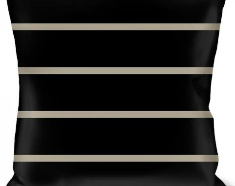 Buckle-Down Throw Pillow - Pinstripes Black/Gray