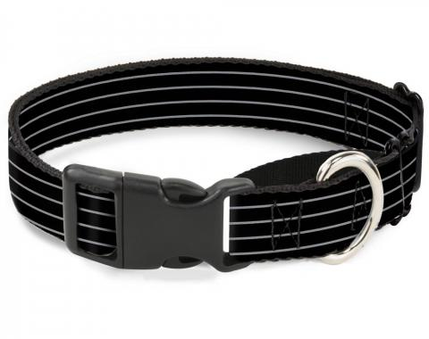 Plastic Martingale Collar - Pinstripes Black/Gray