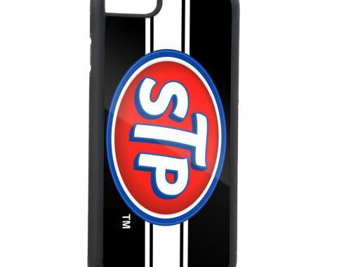 Rubber Cell Phone Case - BLACK - STP Logo/Stripe FCG Black/White/Blue/Red