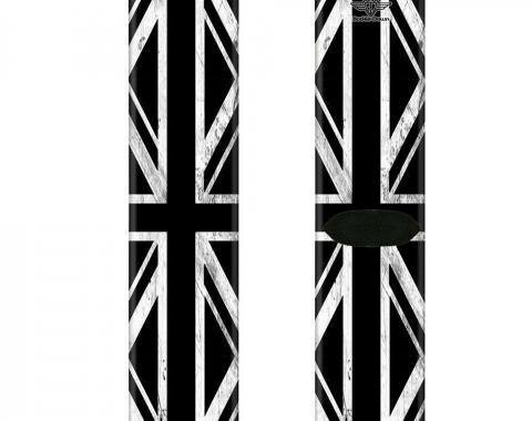 Sock Pair - Polyester - Union Jack Distressed Black/White - CREW