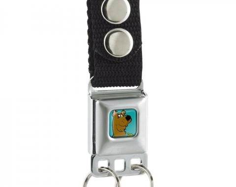 Keychain - Scooby Doo Face Full Color Turquoise Glow