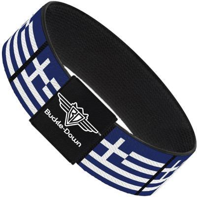 Buckle-Down Elastic Bracelet - Greece Flags