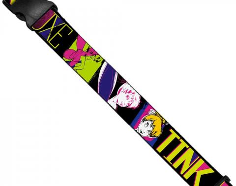 Luggage Strap - TINK LUXE Sketch Black/Multi Neon