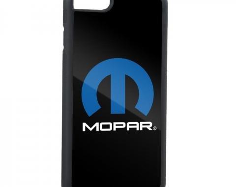 Rubber Cell Phone Case - BLACK - MOPAR Logo FCG Black/Blue/White