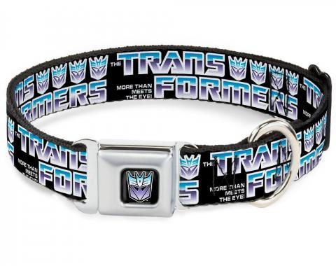 Dog Collar TFJ-Transformers Decepticon Logo Black/Blue Fade - TRANSFORMERS Logo/4Decepticon Logo Black/Blue-Purple Fade