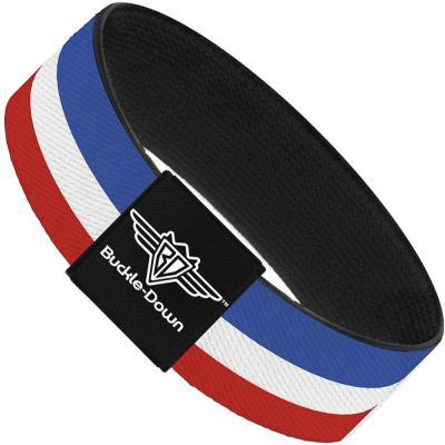 Buckle-Down Elastic Bracelet - Stripes Red/White/Blue