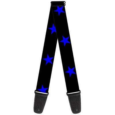 Guitar Strap - Star Black/Blue