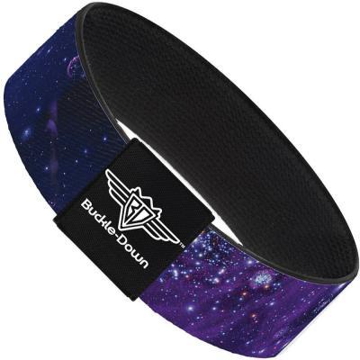 Buckle-Down Elastic Bracelet - Galaxy Blues/Purples