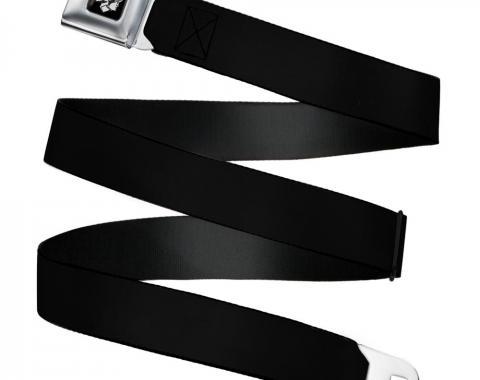 Ford Mercury Head Emblem Black/White  Seatbelt Belt - Black Webbing