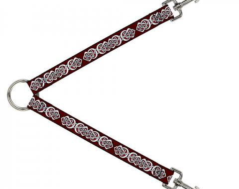 Dog Leash Splitter - Celtic Knot5 Reds/Black/White