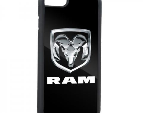 Rubber Cell Phone Case - BLACK - Ram 3-D Logo/RAM FCG Black/Silver/White