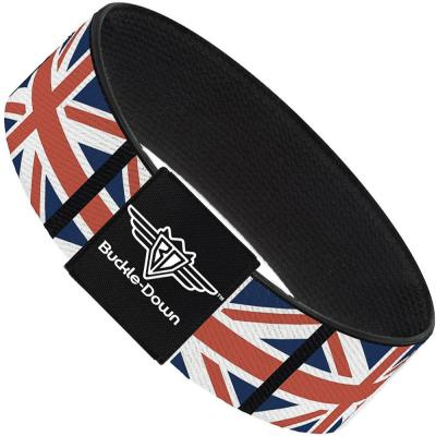 Buckle-Down Elastic Bracelet - United Kingdom Flags
