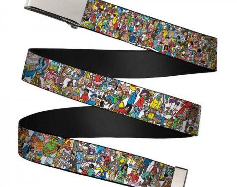 Chrome Buckle Web Belt - Where's Waldo? Great Portrait Exhibition Webbing
