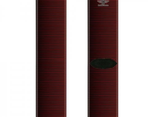 Sock Pair - Polyester - Vertical Stripes Transition Black/Red - CREW