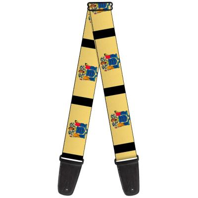 Guitar Strap - New Jersey Flags/Black