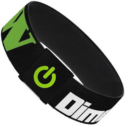 "Elastic Bracelet - 1.0"" - DIMENSION W Black/White/Green"