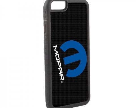 Rubber Cell Phone Case - BLACK - MOPAR Logo 45-Degree Mesh FCG Black/Gray/Blue/White