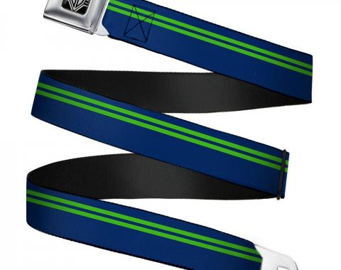 Seatbelt Belt - Racing Stripe Navy/Bright Green
