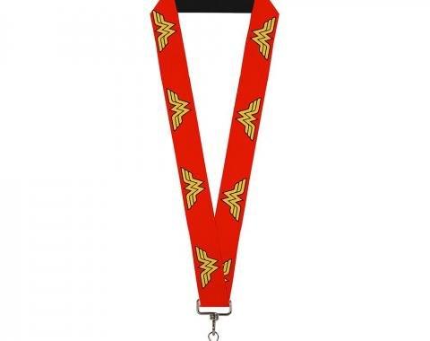 """Lanyard - 1.0"""" - Wonder Woman Logo Red"""