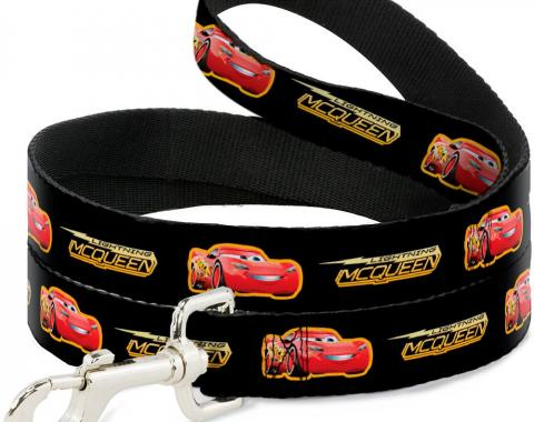 Dog Leash Cars 3 LIGHTNING MCQUEEN Pose/Bolt Black/Yellows