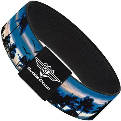 Buckle-Down Elastic Bracelet - Blue Sunset