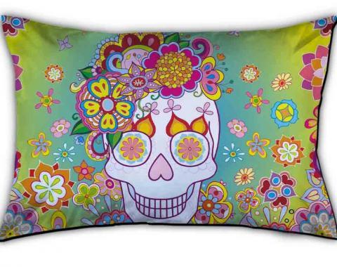 Pillowcase - STANDARD - Felicity Calavera/Flowers Yellow-Green Fade/Multi Color