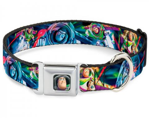 Dog Collar DYCE-Buzz Lightyear Pose2 Full Color Black Buzz Lightyear Action Poses Stacked