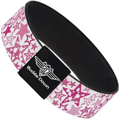 Buckle-Down Elastic Bracelet - Stargazer White/Pink