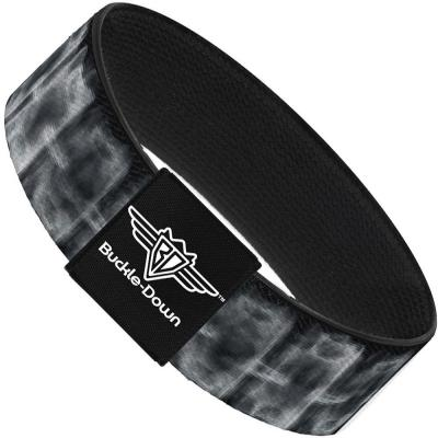 Buckle-Down Elastic Bracelet - Spinal X-Ray Black/White