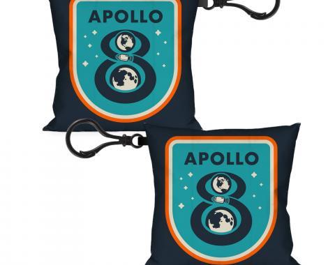 Pillow Keychain - APOLLO 8 Orbit Blues/Orange/White