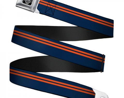 Seatbelt Belt - Racing Stripe Navy/Orange