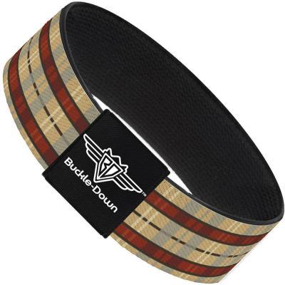 Buckle-Down Elastic Bracelet - Americana Plaid
