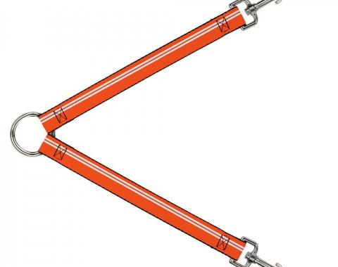 Dog Leash Splitter - Racing Stripe Orange/White
