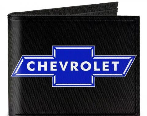 Canvas Bi-Fold Wallet - Chevy Bowtie Logo CENTERED