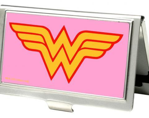 Business Card Holder - SMALL - Wonder Woman Logo FCG Pink