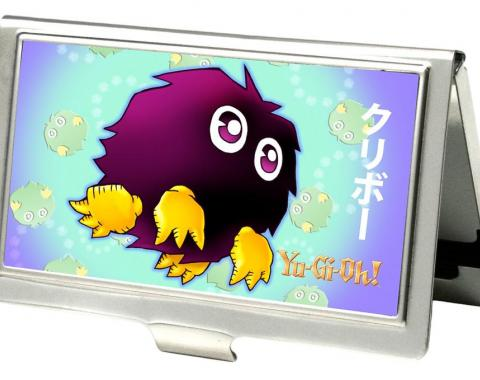 Business Card Holder - SMALL - YU-GI-OH! Kuriboh Pose/Swirl FCG Aqua/Purple/Yellow