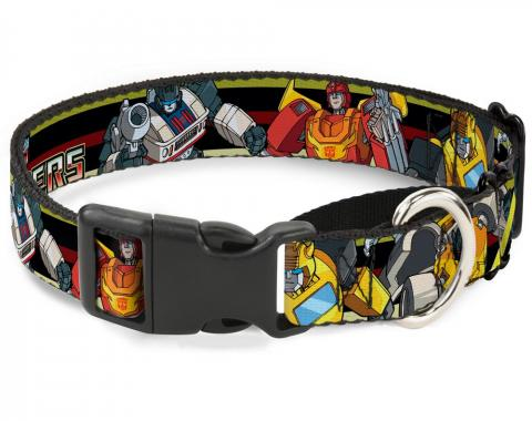 Plastic Martingale Collar - TRANSFORMERS 5-Autobots Battle Poses/Stripe Black/Yellows/Red
