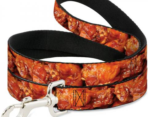 Buckle-Down Dog Leash - Vivid Hot Wings Stacked