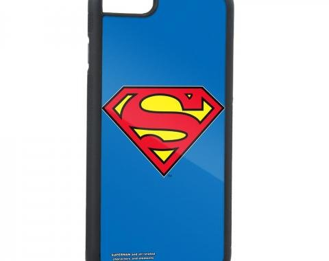 Rubber Cell Phone Case - BLACK - Superman Shield3 FCG Blue/Red/Yellow