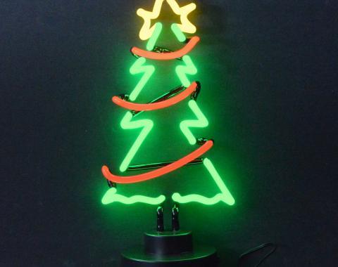 Neonetics Neon Sculptures, Christmas Tree with Garland Neon Sculpture