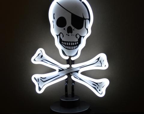 Neonetics Neon Sculptures, Skull and Crossbones Neon Sculpture