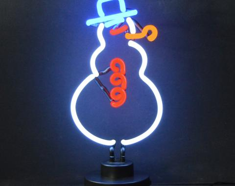 Neonetics Neon Sculptures, Snowman Christmas Neon Sculpture