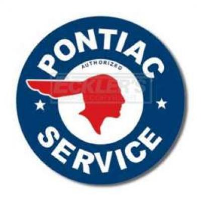 Pontiac Service Tin Sign