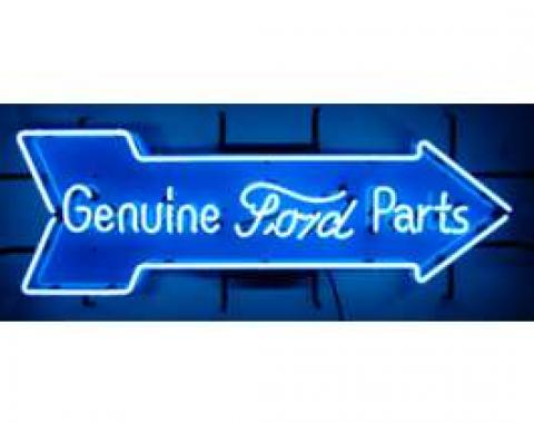 Neon Sign, Genuine Ford Parts Arrow