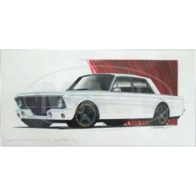 Limited Edition Print, 4 Door, White, 1965