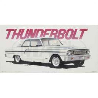 Jim Gerdom Signed & Numbered Print, Ford Thunderbolt, 1964