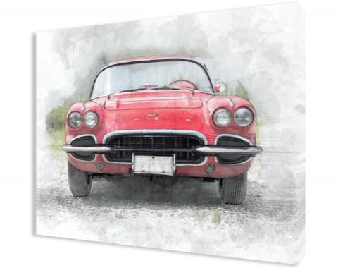 Corvette C1 Gallery Wrapped Canvas