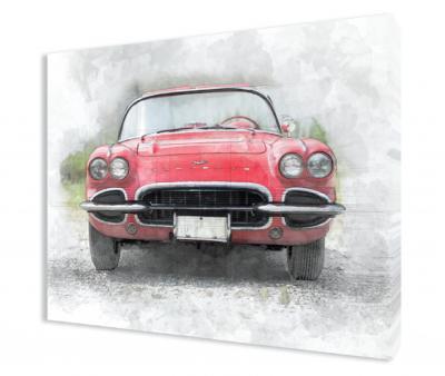 Corvette C1 Gallery Wrapped Canvas
