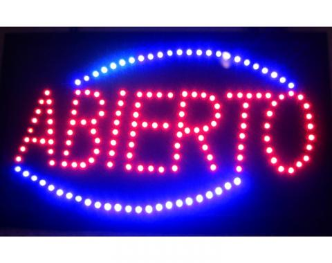 Neonetics Led Motion Signs, Abierto Led Sign