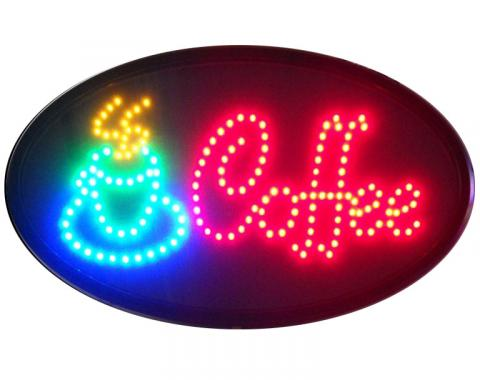 Neonetics Led Motion Signs, Coffee Led Sign